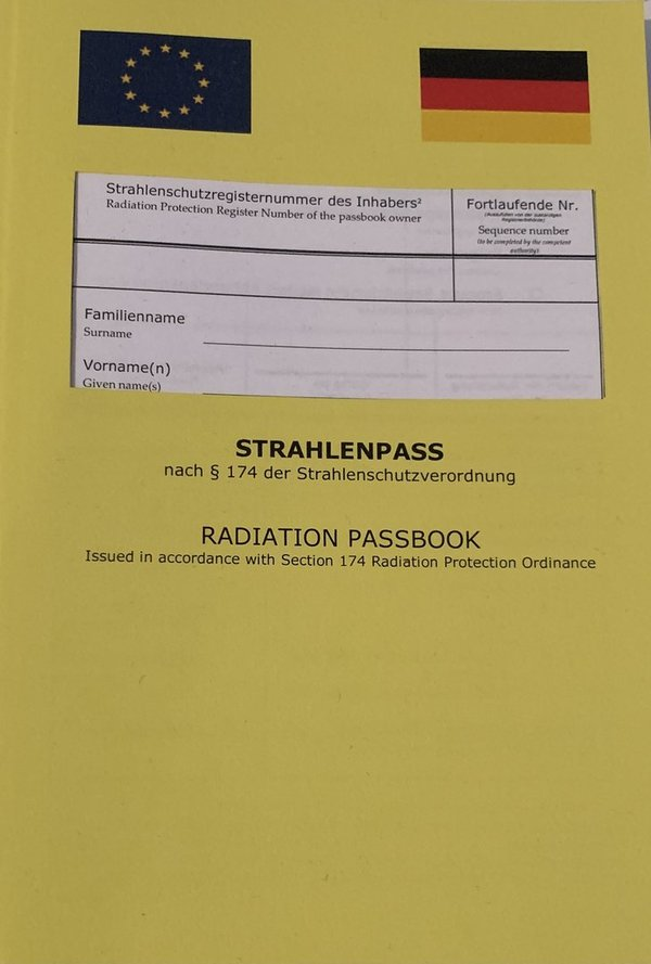 Strahlenpass / Radiation Passbook